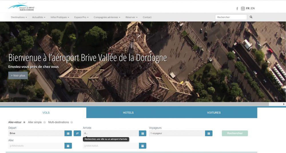 Brive Airport Website
