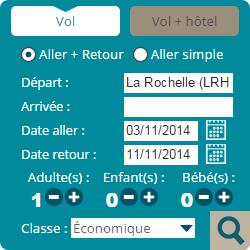 Moteur de réservation Vols & Hôtels - Aéroport de La Rochelle