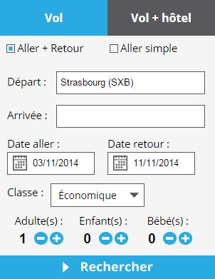 Moteur de réservation Vols & Hôtels - Strasbourg Aéroport Voyages